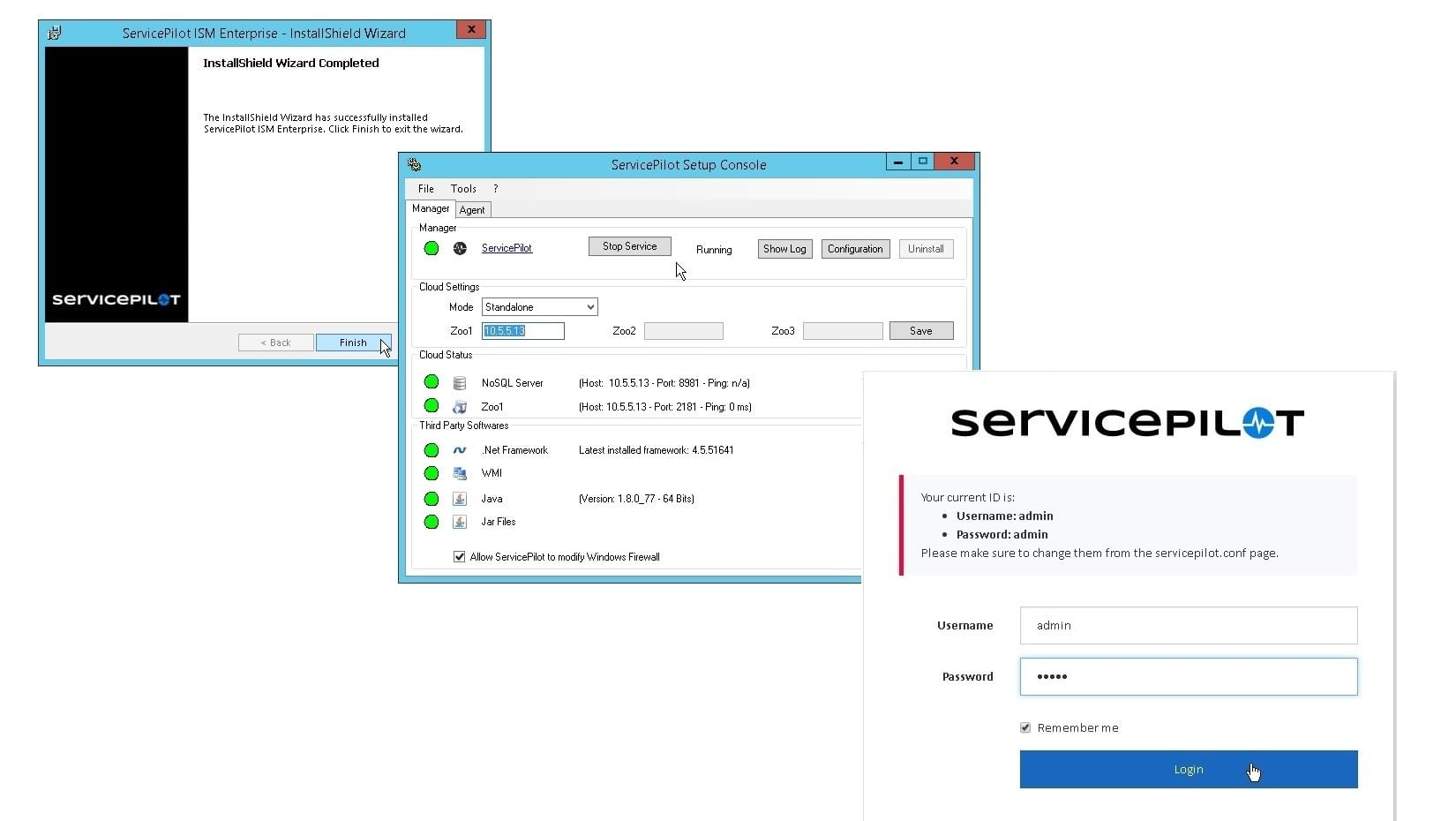 Install ServicePilot in a few clicks. Start the configuration in a user-friendly interface.